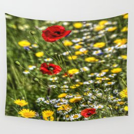 Poppies Peacefulness  Wall Tapestry
