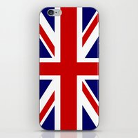 british flag iPhone & iPod Skins featuring British Union Flag by PICSL8