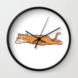 Tiger is Resting Wall Clock