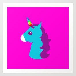Portrait  of a Unicorn Art Print