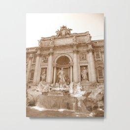 Trevi Fountain - Rome Metal Print