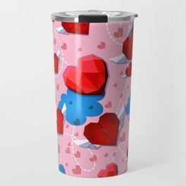Hearts pattern for textile or wallpaper Travel Mug