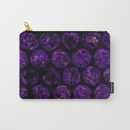 Purple Circles Carry-All Pouch