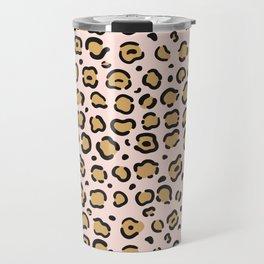 Soft Pink Leopard Pattern Travel Mug
