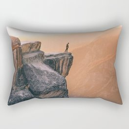 On the cliff, Yosemite Rectangular Pillow