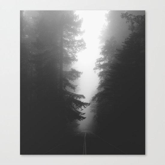 Foggy Road Canvas Print