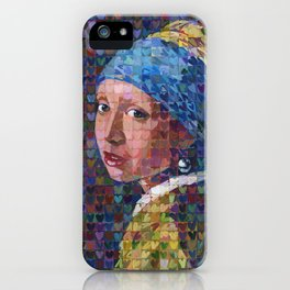 """I """"Heart"""" Girl With A Pearl Earring iPhone Case"""