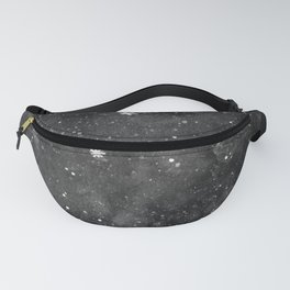 Watercolor galaxy - black and white Fanny Pack