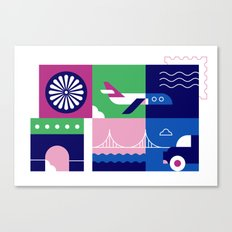Travel by Plane Canvas Print