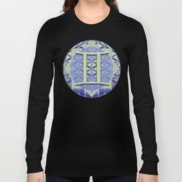 Gemini Flower of Life Astrology Design by Debra Cortese Designs Long Sleeve T-shirt