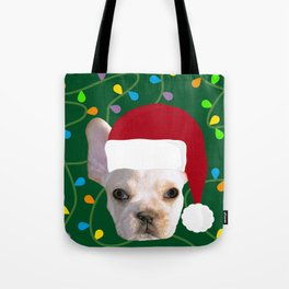 French Bulldog Santa Tote Bag