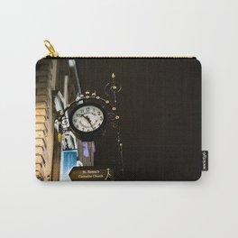 Clock in Grafton street, Dublin Carry-All Pouch