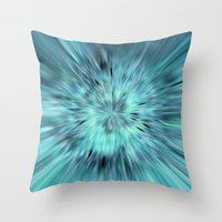 emerald Throw Pillows featuring Emerald by Armine Nersisian