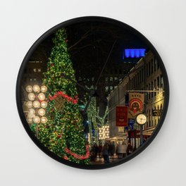 Boston is ready for Christmas  Wall Clock
