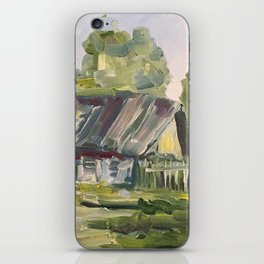 Oil Painting On Canvas Village Landscape Artwork Modern Room Wall Art Home Living Cozy Home Decor iPhone Skin