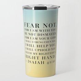 Isaiah 41:10 Bible Quote Travel Mug
