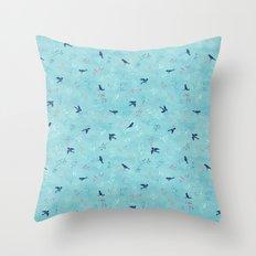 Winter Birds Throw Pillow