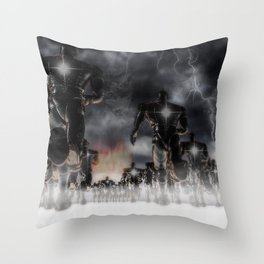 Soldiers Of Virtue Throw Pillow