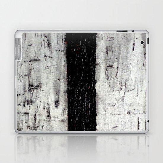 Dark Path - Black and white abstract Laptop & iPad Skin