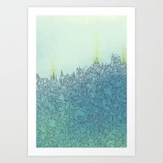 A Quiet Raft Art Print