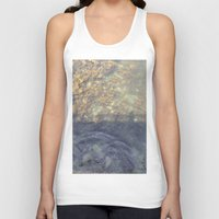 maine Tank Tops featuring Maine Water by Christina Hand