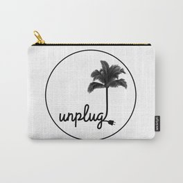 Unplug (White) Carry-All Pouch