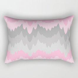 Pink Grey Gray Ombre Chevron Camo  Rectangular Pillow