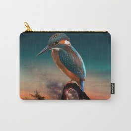 Bird over a cave in the evening Carry-All Pouch