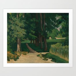 The Avenue at the Jas de Bouffan Art Print