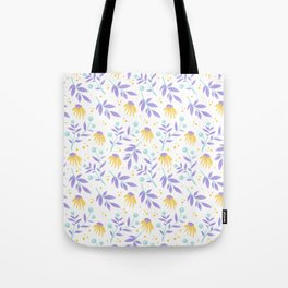 Yellow flowers and purple leaves Tote Bag