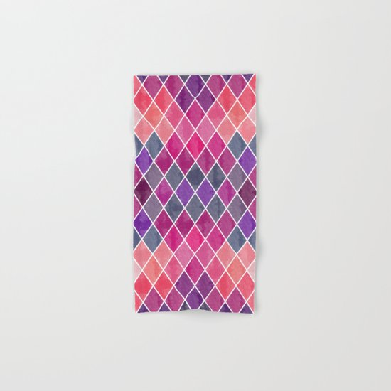 Watercolor Geometric Pattern Hand & Bath Towel