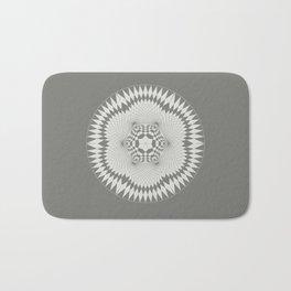 flower of life, alien crop formation, sacred geometry Bath Mat