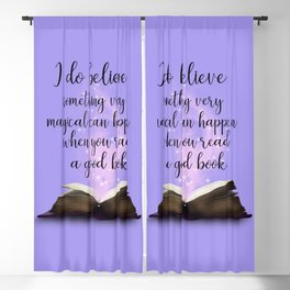 Reading Is Magical, Quote Blackout Curtain