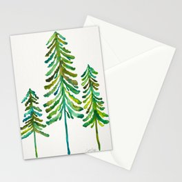 Pine Trees – Green Palette Stationery Cards