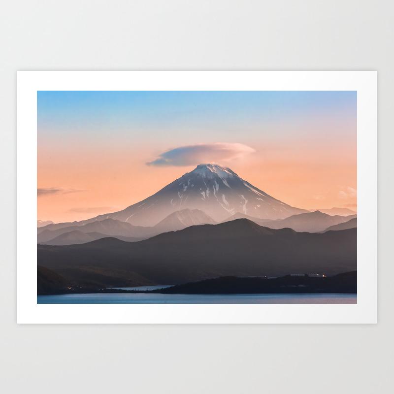 Vilyuchik Volcano Art Print By Svetlanakorneliuk Society6