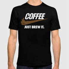 Just Brew It MEDIUM Mens Fitted Tee Black