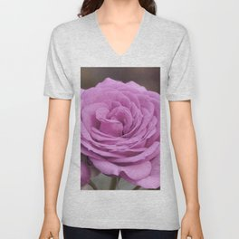Light Lilac Pink Rose #1 #floral #art #society6 Unisex V-Neck