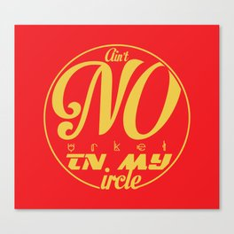 No Urkel In Ma Circle Canvas Print
