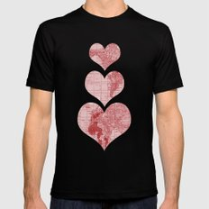 I Love, Love, Love, You MEDIUM Black Mens Fitted Tee