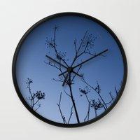 night sky Wall Clocks featuring Night Sky by Shy Photog