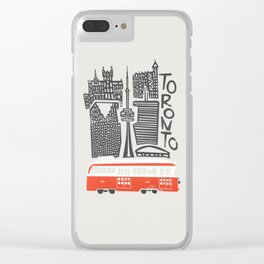 Toronto Cityscape Clear iPhone Case