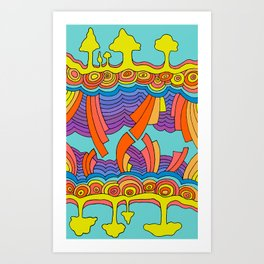 Re(tro)verse Art Print