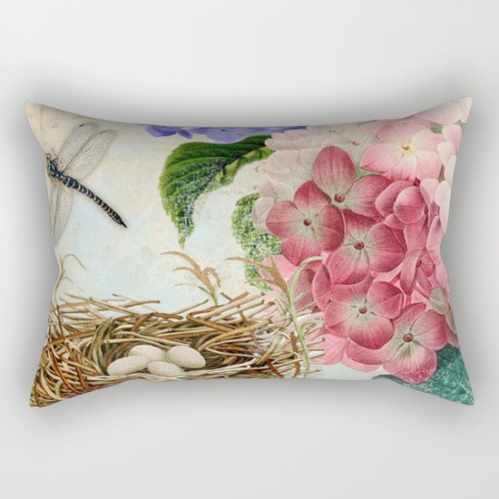 Vintage Flowers #14 Rectangular Pillow