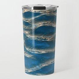 Aqua - blue abstract Travel Mug