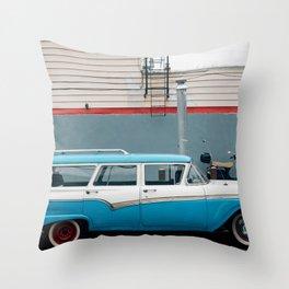 Country Sedan Throw Pillow