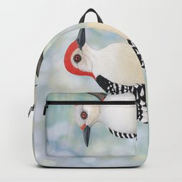 red bellied woodpeckers and bokeh Backpack