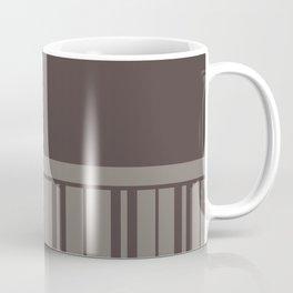 MUSHROOM STRIPE WITH BROWN GREY PLAIN COLOR Coffee Mug