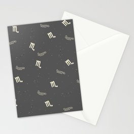 Scorpio Pattern Stationery Cards