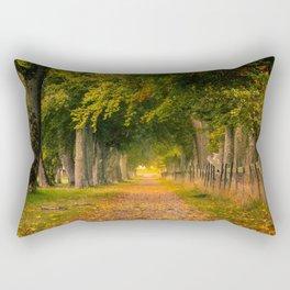 Autumn Alley Road Rectangular Pillow