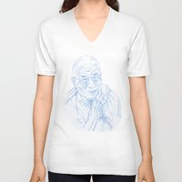 lama V-neck T-shirts featuring dalai lama by jeroy94